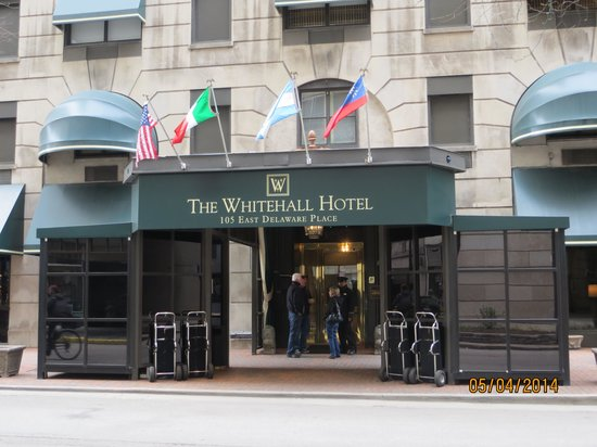 The entrance to the Whitehall Hotel