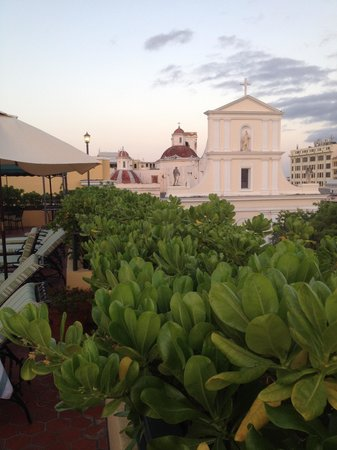 Hotel El Convento: View from the rooftop lounge