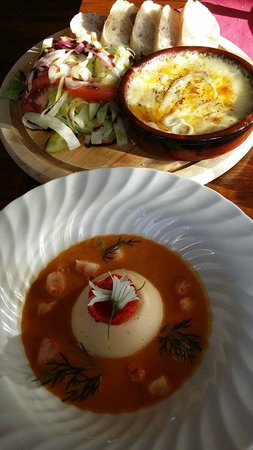 The Oak Room: Scallop flan and bisque