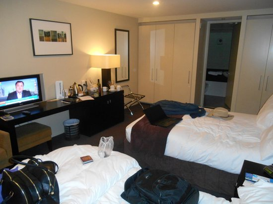Scenic Suites Queenstown: Well-equipped cupboards and lots of power points!