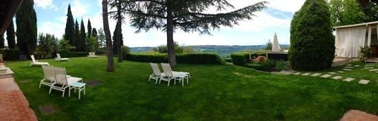 Villa I Barronci: vue a partie de la suite numero 7