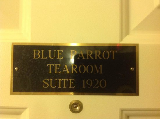 James Gettys Hotel: the sign on the door to our room