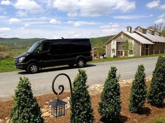 Bachelorette wine tour review of monticello wine tour for Charlottesville cabin rentals hot tub