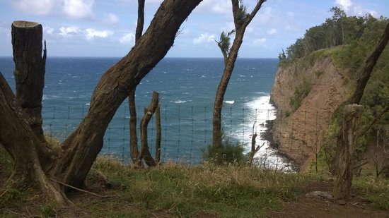 Hawaii Island Retreat at Ahu Pohaku Ho`omaluhia : bluff over the crashing waves