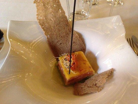 Restaurante Ruta del Veleta: Láminas de mango con salmón