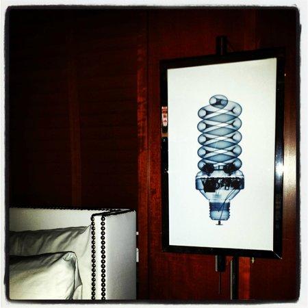 Hudson Hotel New York: Starck designed bedside lamps...