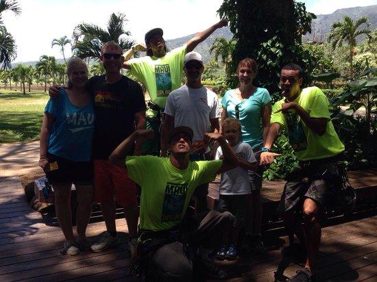 Maui Zipline Company: Our guides Chevis, Kolt & Carl.