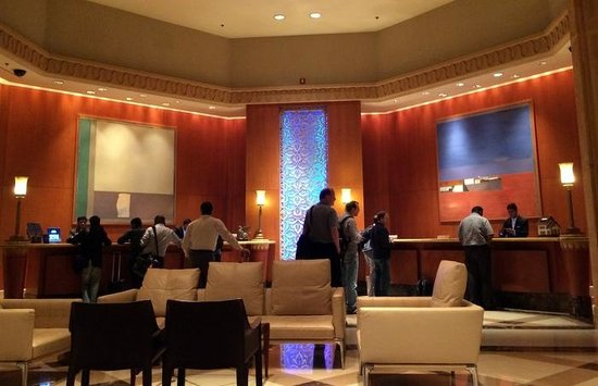 JW Marriott Mumbai Juhu: busy check-out at midnight