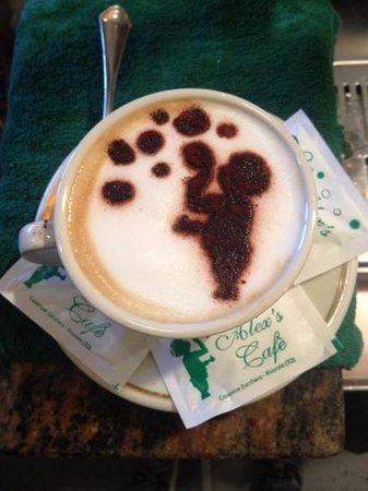 Rivarolo Canavese, Italia: cappuccino personalizzato