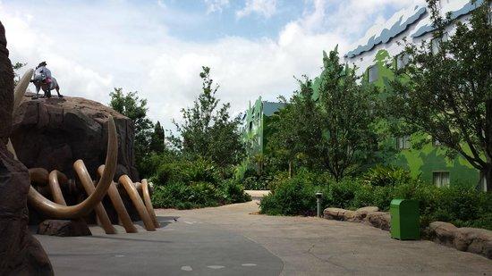 Disney's Art of Animation Resort: Decoração entre os blocos