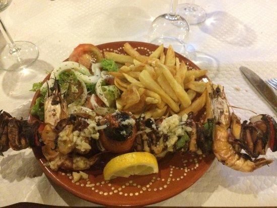 O Velho Novo: Brochette de calamar façon kebab