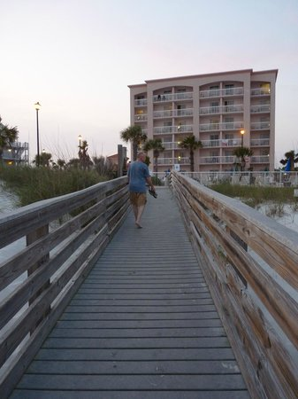 Holiday Inn Express Orange Beach: The hotel from the beach.
