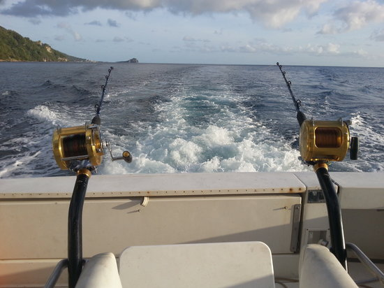 Waitukubuli Adventure Tour Co.: Fishing off the coast of Dominica
