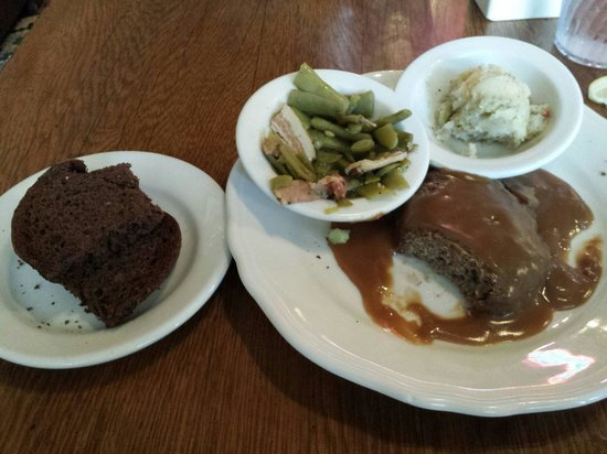 Schilo's Delicatessen : Saturday Special Hamburger steak with two sides. Very good.