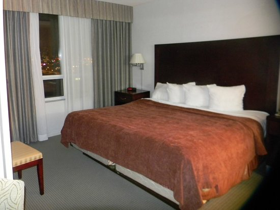 Quality Suites Toronto Airport: King size bed