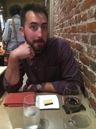 Avital Food Tours: My partner in crime with his wine and cheese