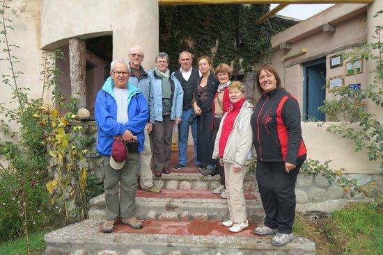 Posada Inti Watana : Devant la maison nous tous avec Juan et Fabienne.