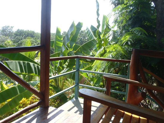 Hotel Raratonga: Porch (has two chairs and table)