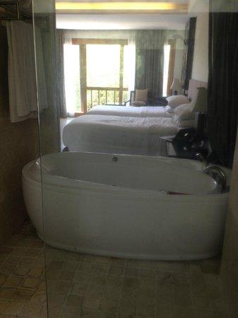 Villa Kayu Raja : Bedroom and spa ath