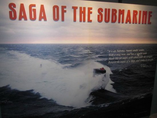 U.S. Naval Undersea Museum: The Saga of the Submarine details the devleopment of submarines throughout history