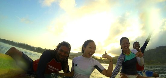 Tortuga Surf School: Surfing with Rasta & Mike. Too much fun!