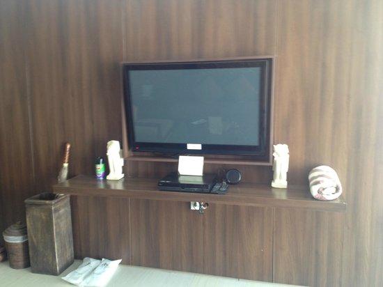 Villa Kayu Raja : Downstairs TV