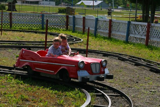 Midway State Park: Driving the cars.