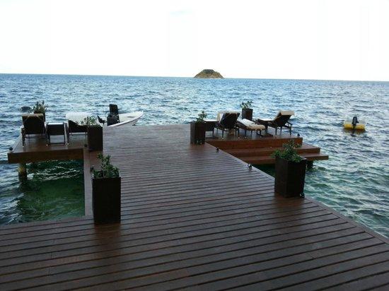 Deep Blue Restaurant : VIsão do deck