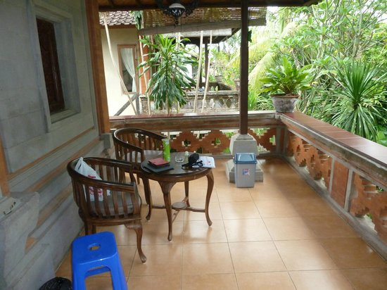 Ubud Bungalow: Our veranda