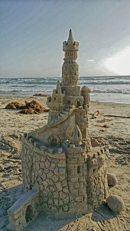 San Diego Sand Castles: Side View of Sand Castle