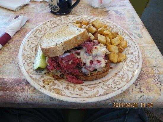 Another Broken Egg Cafe: Ruben Supreme Sandwich