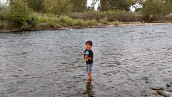 Century 2 Campground : Fishing in the Salmon RIver