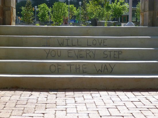 Romare Bearden Park: Stairs at the park