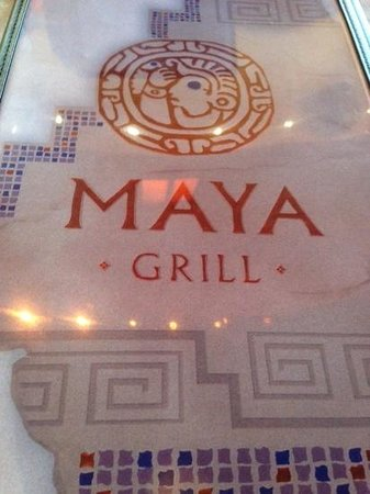 Maya Grill: Menu cover