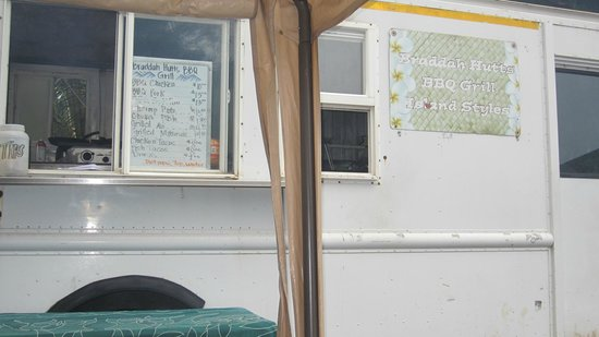 Bradduh Hutt: The menu on the side of the RV