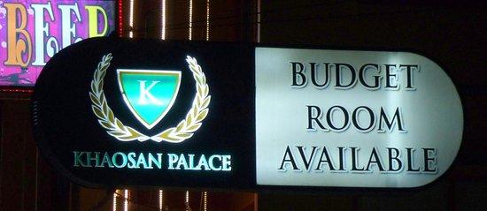 Khaosan Palace Hotel : Khaosan Palace Khao San Road