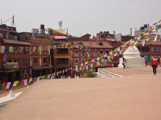 Stûpa de Bodnath : View from Stupa