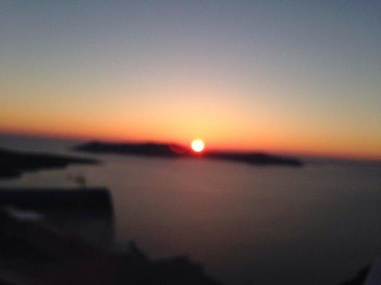 Villa Renos : Santorini sunset