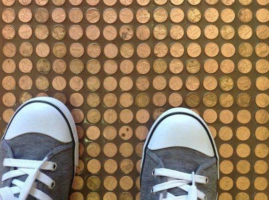 Penny Floor in Weeds Cafe