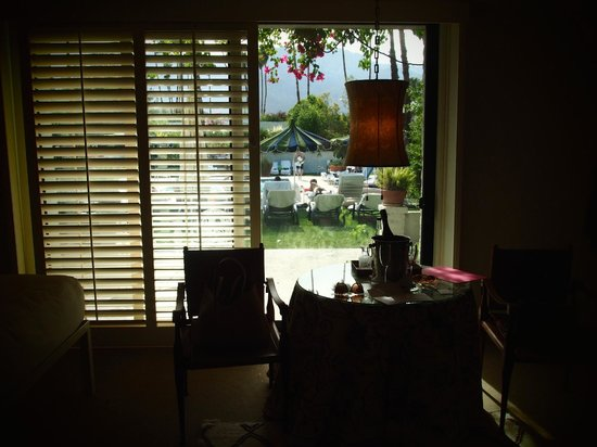 Parker Palm Springs : view out of our patio door
