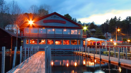 Algonquin Restaurant A Night Shot Of The From End Docks