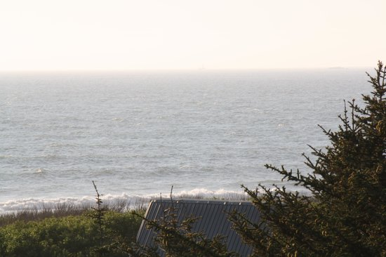 Gold Beach Inn : Whale Watching from our balcony