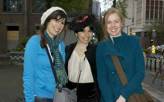 "Forbidden Vancouver Walking Tours: Meeting up with our guide, ""Sarah""."