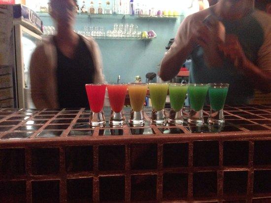 Gay Vallarta Bar Hopping: Pride shots yum!