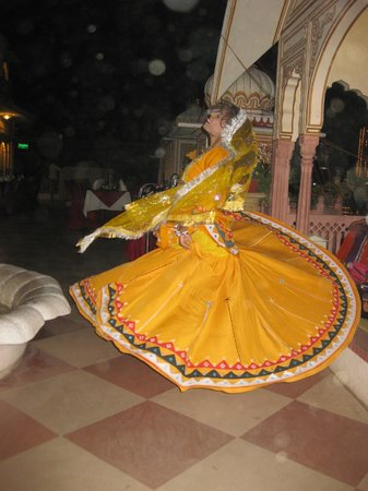 Shahpura House: Terrace Restaurant Entertainment