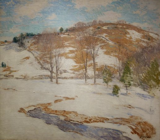 Smithsonian American Art Museum: W. L. Metcalf. Snow in the Foothills
