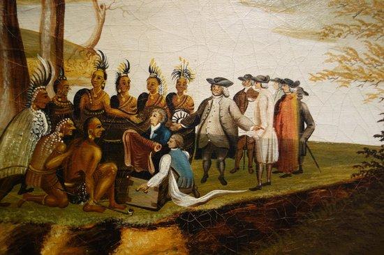 Galería Nacional de Arte: Edw. Hicks: Peaceable Kingdom, Detail