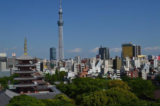Richmond hotel Asakusa: vue de la chambre de jour
