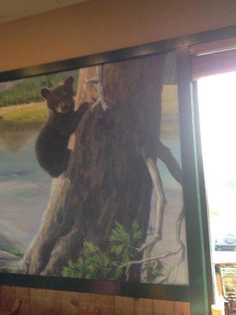 Black Bear Diner: Bear wall decor everywhere