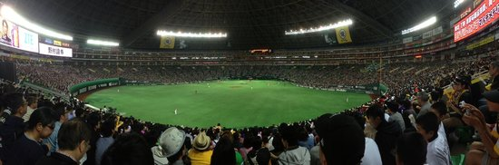 Fukuoka Yahuoku! Dome: view from the outfield 1